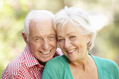 Outdoor Portrait Of Happy Senior Couple Royalty Free Stock Images
