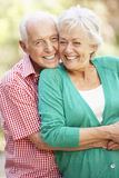 Outdoor Portrait Of Happy Senior Couple Royalty Free Stock Photography