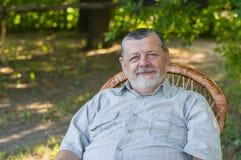 Outdoor portrait of a happy senior man Royalty Free Stock Photo
