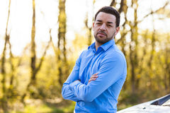 Outdoor portrait of a latin american man Royalty Free Stock Images