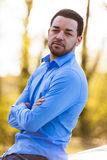 Outdoor portrait of a latin american man Stock Image