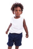 Outdoor portrait of a little african american boy - Black - chil Royalty Free Stock Photos