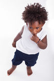 Outdoor portrait of a little african american boy - Black - chil Royalty Free Stock Images