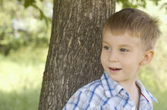 Outdoor portrait of little boy Royalty Free Stock Photography