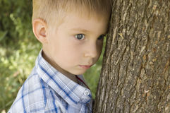 Outdoor portrait of little boy Stock Image