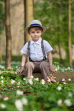 Outdoor portrait of a little boy Stock Photography
