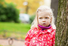 Outdoor portrait of little girl Stock Image