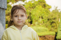 Outdoor portrait of little girl Stock Photography
