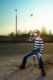 Outdoor portrait of a little girl in sunglasses Royalty Free Stock Image