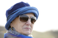 Outdoor portrait of lovely senior woman Stock Photo