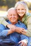 Outdoor Portrait Of Loving Senior Couple Royalty Free Stock Images