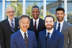 Outdoor Portrait Of Male Multi-Cultural Business Team Royalty Free Stock Images