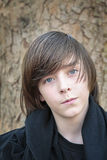 Outdoor portrait of a male teenager Stock Photography