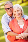 Outdoor Portrait Of Mature Romantic Couple Royalty Free Stock Photography
