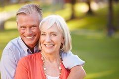 Outdoor Portrait Of Mature Romantic Couple Stock Photography