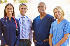 Outdoor Portrait Of Medical Team royalty free stock photography
