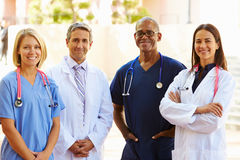 Outdoor Portrait Of Medical Team Royalty Free Stock Image