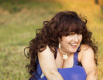 Outdoor portrait of the middle age woman. Royalty Free Stock Photos