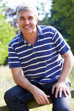 Outdoor Portrait Of Middle Aged Man Royalty Free Stock Photos