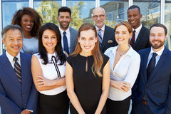 Outdoor Portrait Of Multi-Cultural Business Team royalty free stock photography
