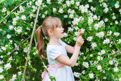 Free Outdoor Portrait Of A Cute Little Girl Royalty Free Stock Images - 49634089