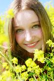Outdoor Portrait Of Beautiful Girl Royalty Free Stock Photography