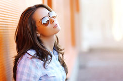 Outdoor portrait pretty sensual woman royalty free stock image