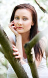 Outdoor portrait of pretty woman Royalty Free Stock Photography