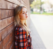 Outdoor portrait of pretty young woman Royalty Free Stock Images