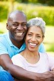 Outdoor Portrait Of Romantic Mature Couple Stock Photography