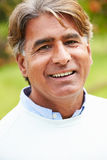 Outdoor Portrait Of Senior Indian Man Stock Images