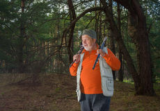 Outdoor portrait of senior range Royalty Free Stock Photo