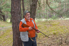 Outdoor portrait of senior ranger Royalty Free Stock Photography