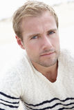 Outdoor Portrait Of Serious Young Man Royalty Free Stock Images