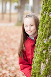 Outdoor portrait of a smiling girl Stock Photos