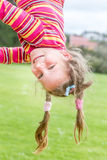 Outdoor portrait of smiling happy child girl in park Royalty Free Stock Photos