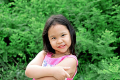Outdoor Portrait of a Smiling Little Girl Royalty Free Stock Photo