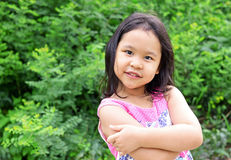 Outdoor Portrait of a Smiling Little Girl Royalty Free Stock Images