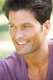 Outdoor Portrait Of Smiling Man Royalty Free Stock Photography