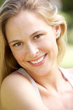 Outdoor Portrait Of Smiling Woman Royalty Free Stock Photography