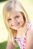 Outdoor Portrait Of Smiling Young Girl Stock Images