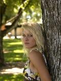 Outdoor Portrait of Teen. Young blond teen girl portrait outdoors Stock Photos