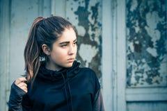 Outdoor portrait of a teenage girl Stock Photo
