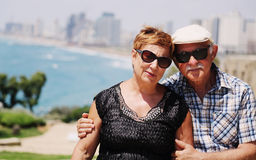 Portrait of two 70 years old senior people Stock Photography