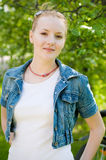 Outdoor portrait of woman Royalty Free Stock Photos