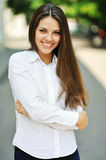 Outdoor portrait of young attractive woman Royalty Free Stock Photos