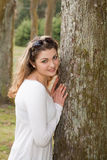 Outdoor portrait of a young beautiful woman Royalty Free Stock Photography