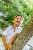 Outdoor portrait of young child boy Royalty Free Stock Photo