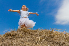 Outdoor portrait of young child girl on natural background Royalty Free Stock Photography