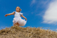 Outdoor portrait of young child girl on natural background Stock Photo